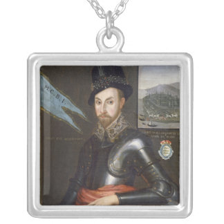Portrait of Peregrine Bertie Silver Plated Necklace
