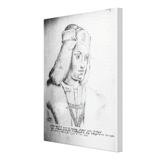 Portrait of Perkin Warbeck Canvas Print