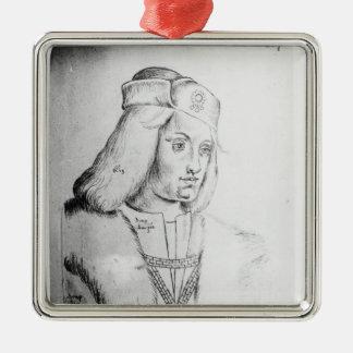 Portrait of Perkin Warbeck Metal Ornament