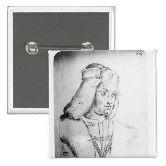Portrait of Perkin Warbeck Pinback Button