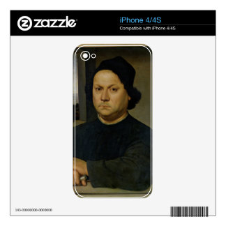 Portrait of Perugino, c.1504 (tempera on wood) Decal For The iPhone 4