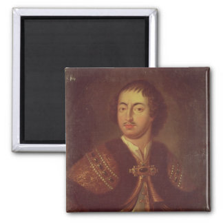 Portrait of Peter I 2 Inch Square Magnet