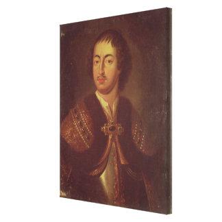 Portrait of Peter I Canvas Print