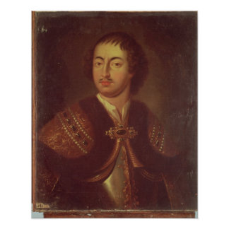 Portrait of Peter I Poster