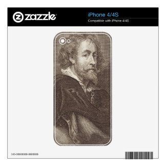 Portrait of Peter Paul Rubens (1577-1640) plate 30 iPhone 4S Decal