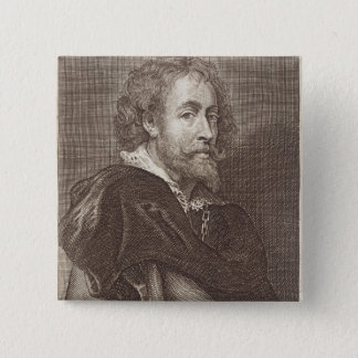 Portrait of Peter Paul Rubens (1577-1640) plate 30 Pinback Button