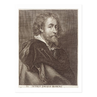 Portrait of Peter Paul Rubens (1577-1640) plate 30 Postcard