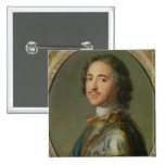 Portrait of Peter the Great 2 Inch Square Button