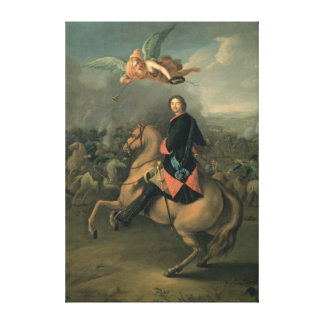 Portrait of Peter the Great against a Canvas Print
