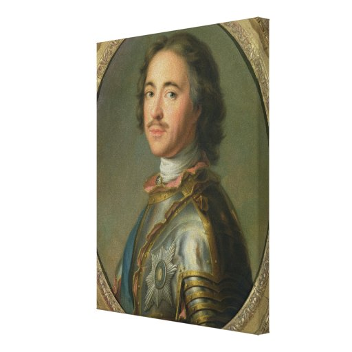Portrait of Peter the Great Canvas Print