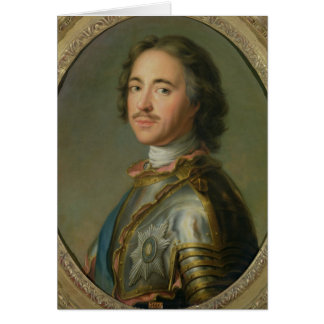 Portrait of Peter the Great Card