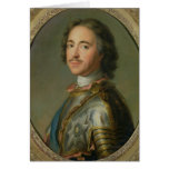 Portrait of Peter the Great Greeting Card