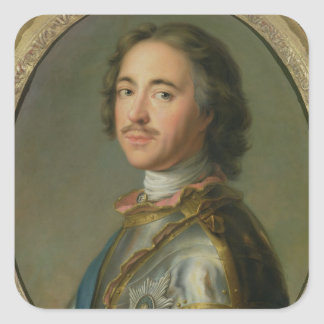 Portrait of Peter the Great Square Sticker