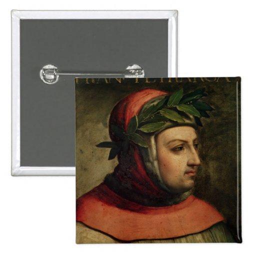 Portrait of Petrarch 2 Inch Square Button