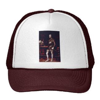 Portrait Of Philip Ii By Tizian (Best Quality) Trucker Hat