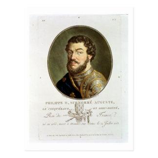Portrait of Philip II, Called Augustus, King of Fr Postcard