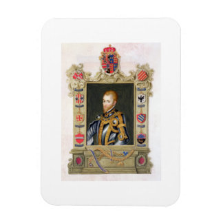 Portrait of Philip II King of Spain (1527-98) from Rectangular Photo Magnet