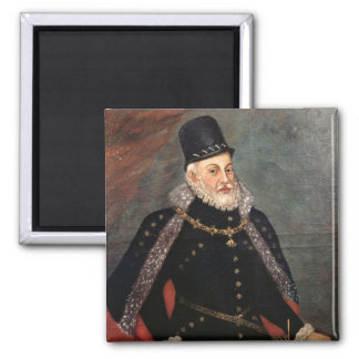 Portrait of Philip II  of Spain 2 2 Inch Square Magnet