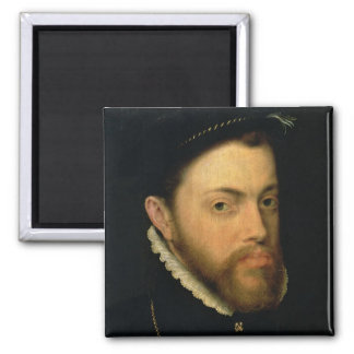 Portrait of Philip II of Spain 2 Inch Square Magnet