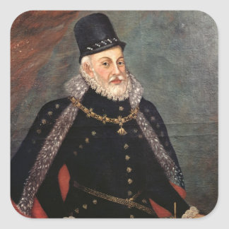 Portrait of Philip II  of Spain 2 Square Sticker