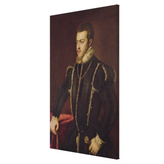Portrait of Philip II  of Spain Canvas Print