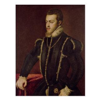 Portrait of Philip II  of Spain Post Card