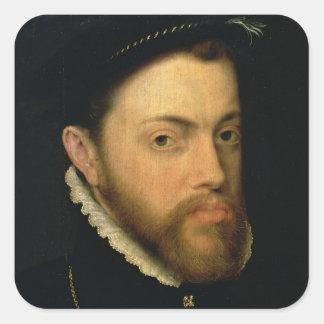 Portrait of Philip II of Spain Square Sticker