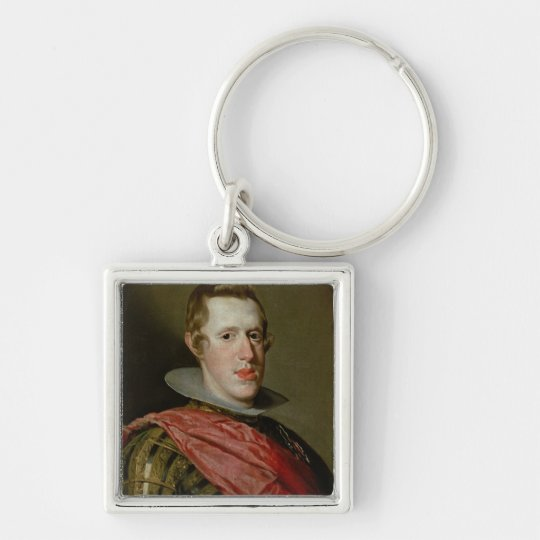 Portrait of Philip IV  in Armour, 1628 Keychain