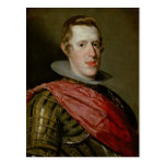 Portrait of Philip IV  in Armour, 1628 Post Card