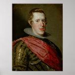 Portrait of Philip IV  in Armour, 1628 Print