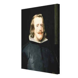 Portrait of Philip IV  in Court Dress, 1655 Canvas Print