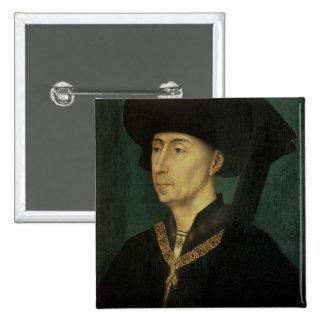 Portrait of Philip the Good  Duke of Burgundy Button