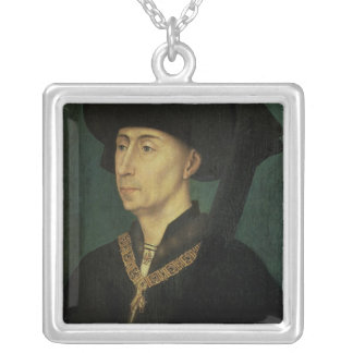 Portrait of Philip the Good  Duke of Burgundy Silver Plated Necklace