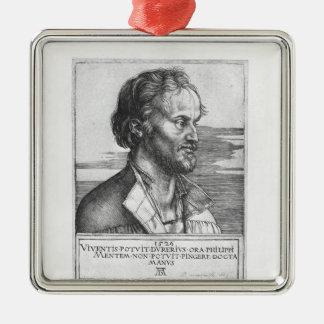 Portrait of Philipp Melanchthon, 1526 Metal Ornament