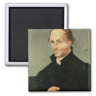 Portrait of Philipp Melanchthon , 1532 2 Inch Square Magnet