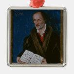 Portrait of Philipp Melanchthon Metal Ornament