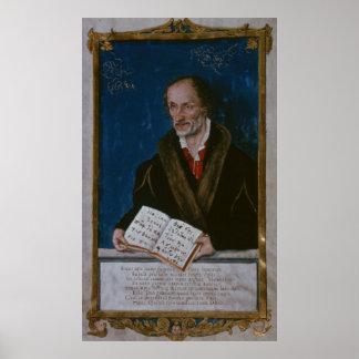Portrait of Philipp Melanchthon Poster