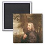 Portrait of Philippe de Champaigne, 1668 2 Inch Square Magnet