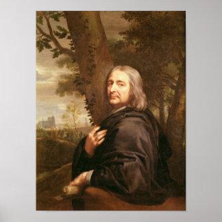 Portrait of Philippe de Champaigne, 1668 Print