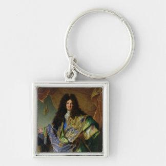 Portrait of Philippe de Courcillon  Marquis Silver-Colored Square Keychain