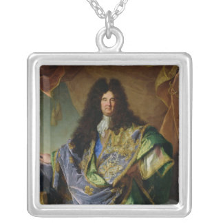 Portrait of Philippe de Courcillon  Marquis Silver Plated Necklace