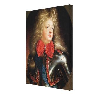 Portrait of Philippe d'Orleans Canvas Print