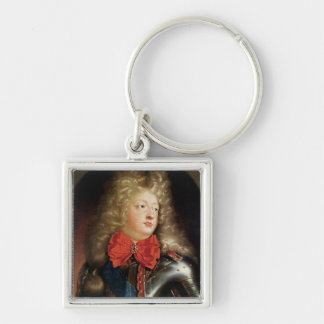 Portrait of Philippe d'Orleans Silver-Colored Square Keychain
