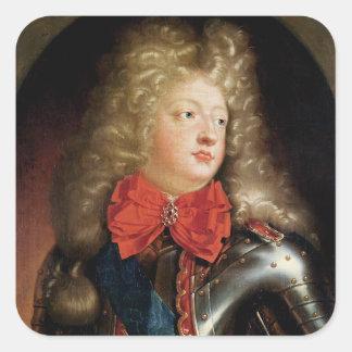 Portrait of Philippe d'Orleans Square Sticker