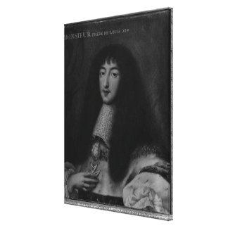 Portrait of Philippe  Duc d'Orleans Canvas Print