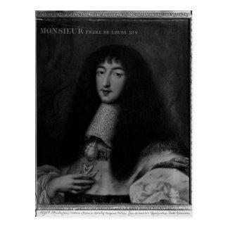 Portrait of Philippe  Duc d'Orleans Postcard