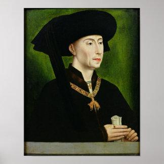 Portrait of Philippe le Bon  Duc de Bourgogne Poster