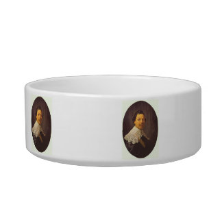 Portrait of Philips Lukasz by Rembrandt Cat Food Bowls