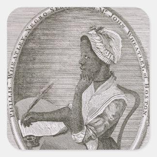 Portrait of Phillis Wheatley Square Sticker