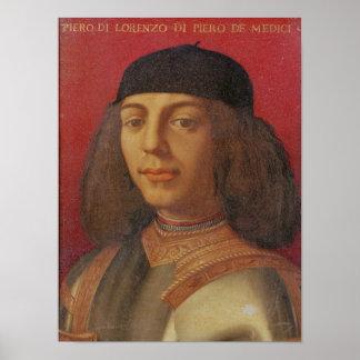 Portrait of Piero di Lorenzo de Medici Poster